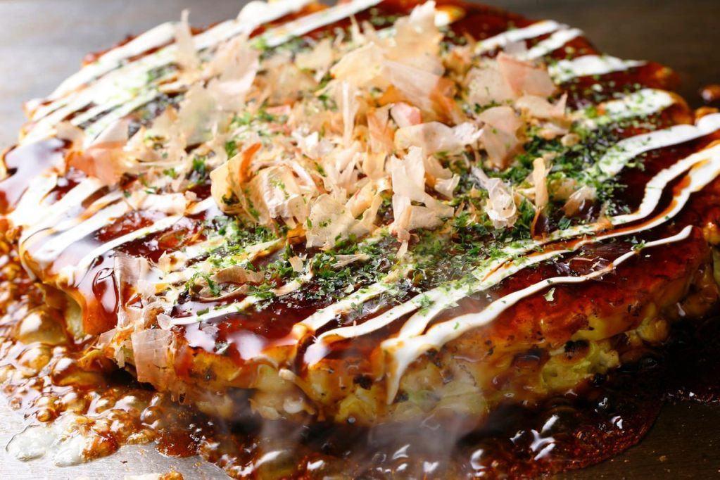 Bánh xèo Okonomiyaki in Osaka