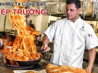 Bản mô tả công việc bếp trưởng