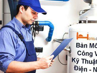 Bản mô tả công việc kỹ thuật viên điện nước tại khách sạn