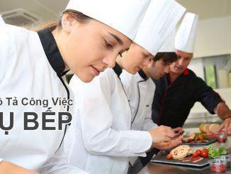 Bản mô tả công việc phụ bếp