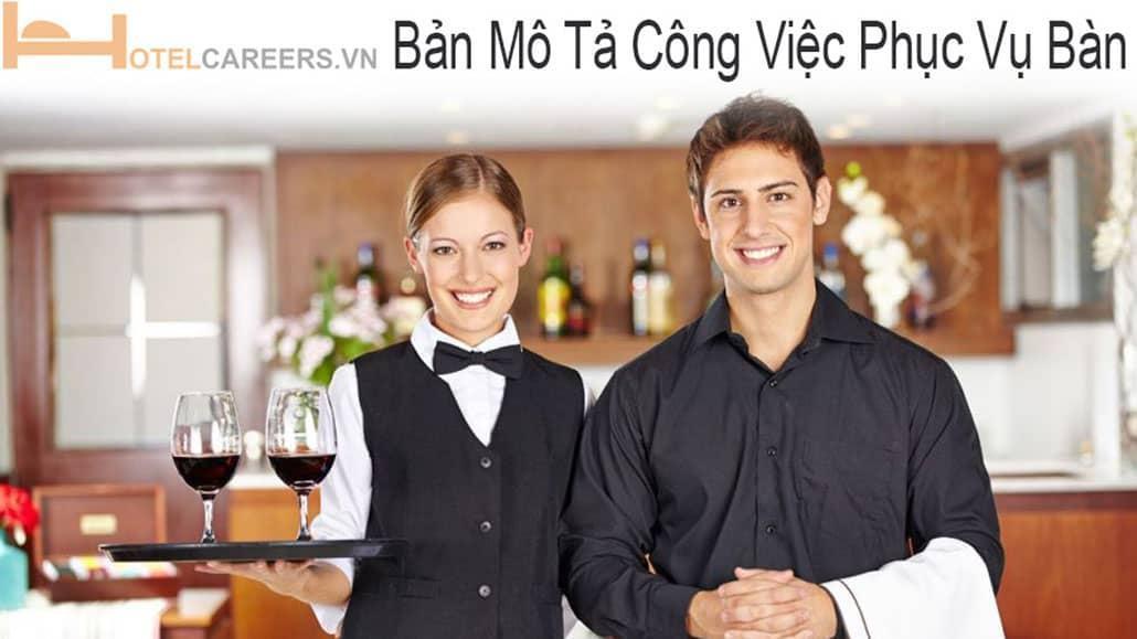 Bản mô tả công việc phục vụ bàn