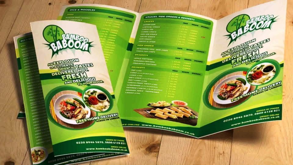Các món ăn trong menu