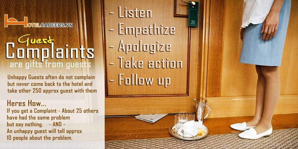 Cách giải quyết than phiền trong khách sạn