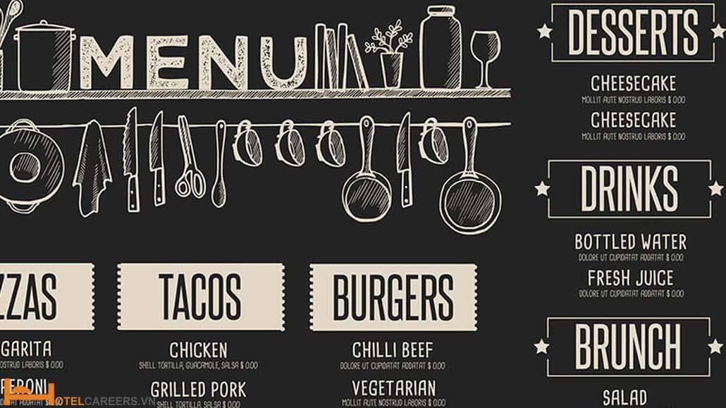 Cách học thuộc menu nhà hàng