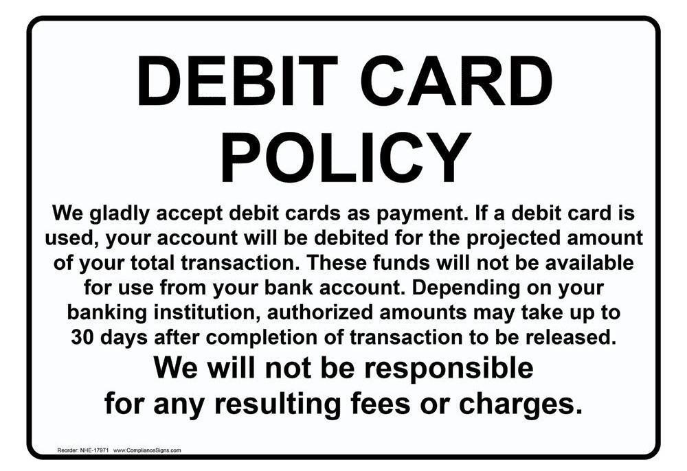Chính sách thẻ ghi nợ
