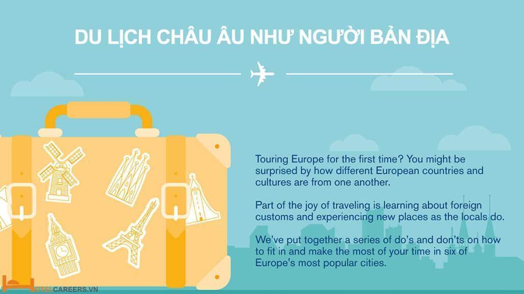 Du lịch châu Âu như người bản địa