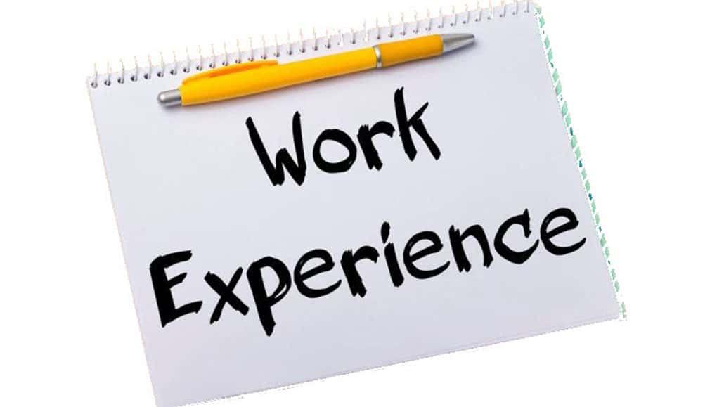 Kinh nghiệm làm việc