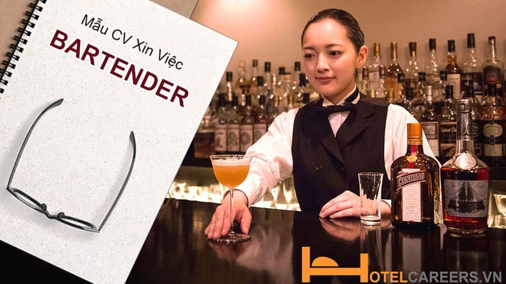 Mẫu CV xin việc Bartender