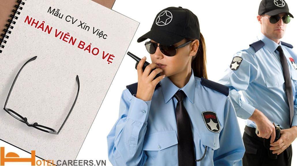 Mẫu CV xin việc bảo vệ