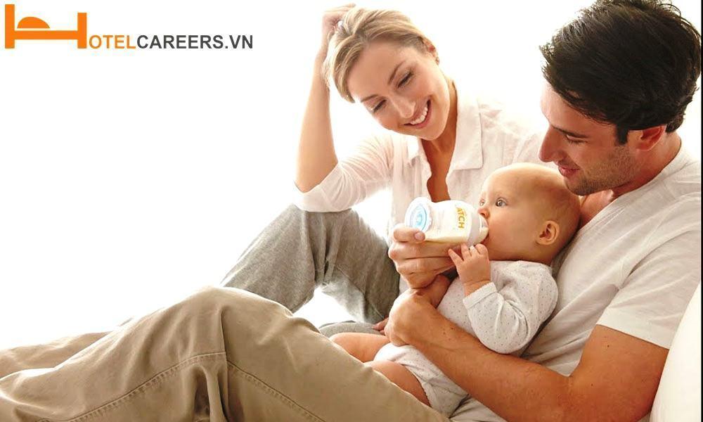 Người chồng có thời gian chăm sóc vợ con