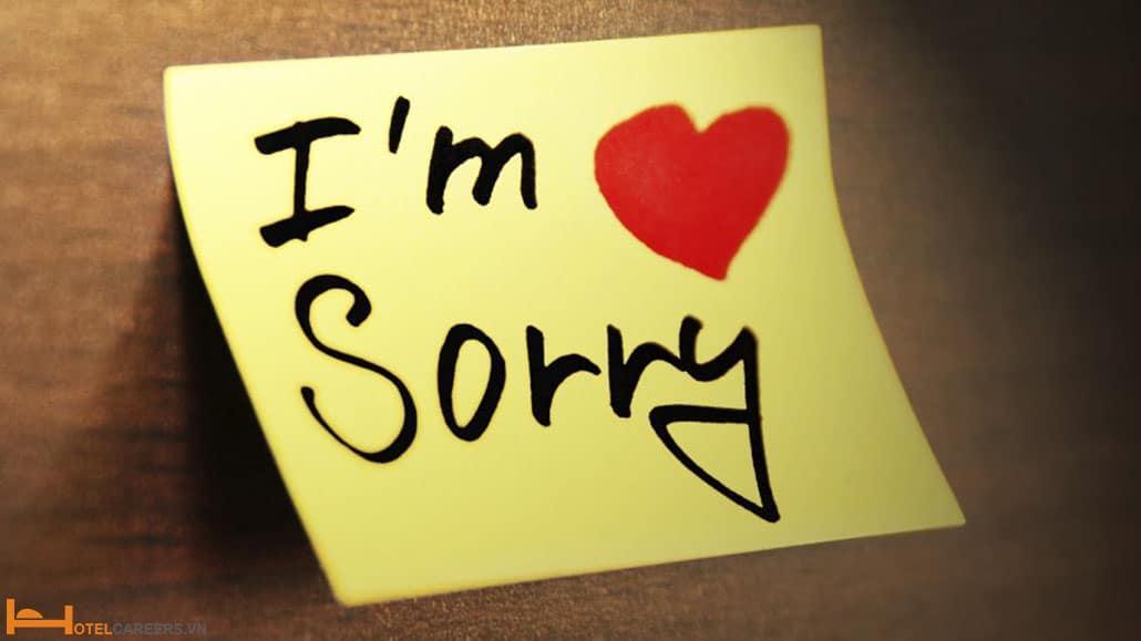 Mẫu thư xin lỗi khách hàng