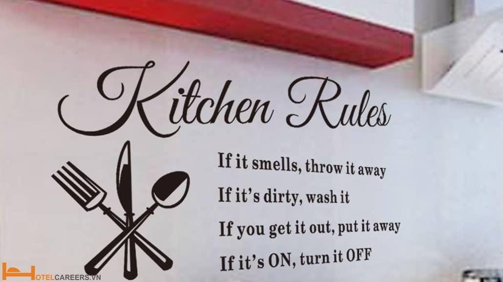Nội quy bếp nhà hàng là gì?