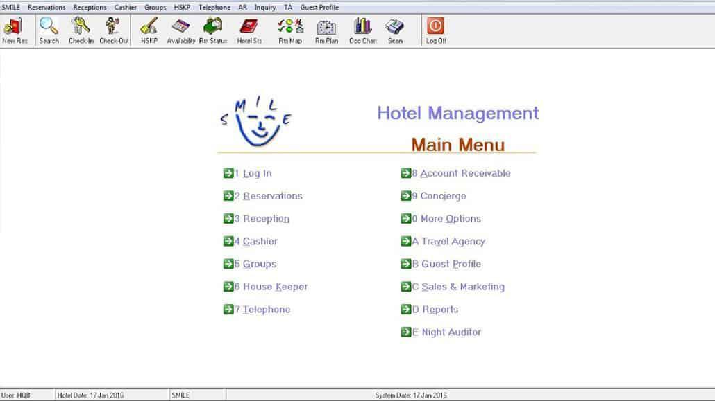 Phần mềm quản lý khách sạn SMILE