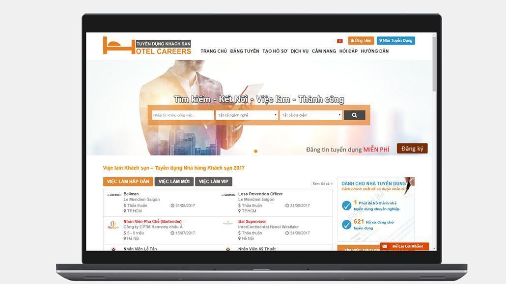 Trang web tuyển dụng khách sạn trực tuyến Hotelcareers.vn