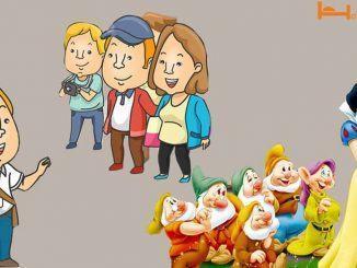 Truyện cười hướng dẫn viên du lịch - Hướng dẫn viên giới thiệu về nàng Bạch Tuyết và bảy chú lùn