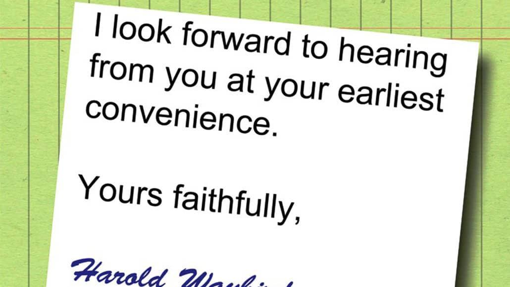 Nội dung thư xin việc phải thật súc tích