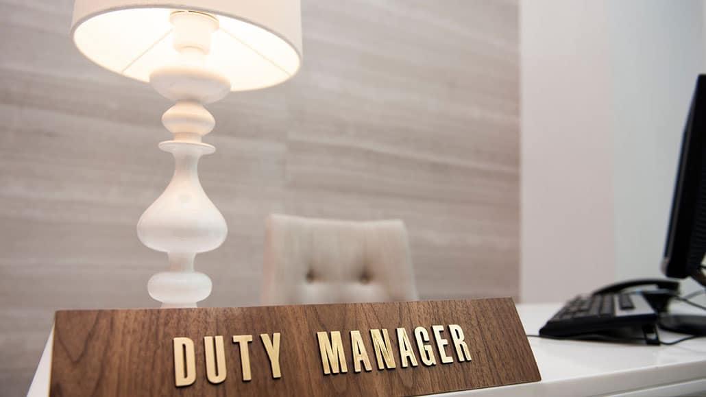 Yêu cầu đối với Duty manager