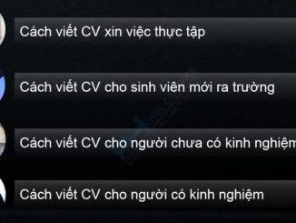 Cách viết CV xin việc theo đối tượng
