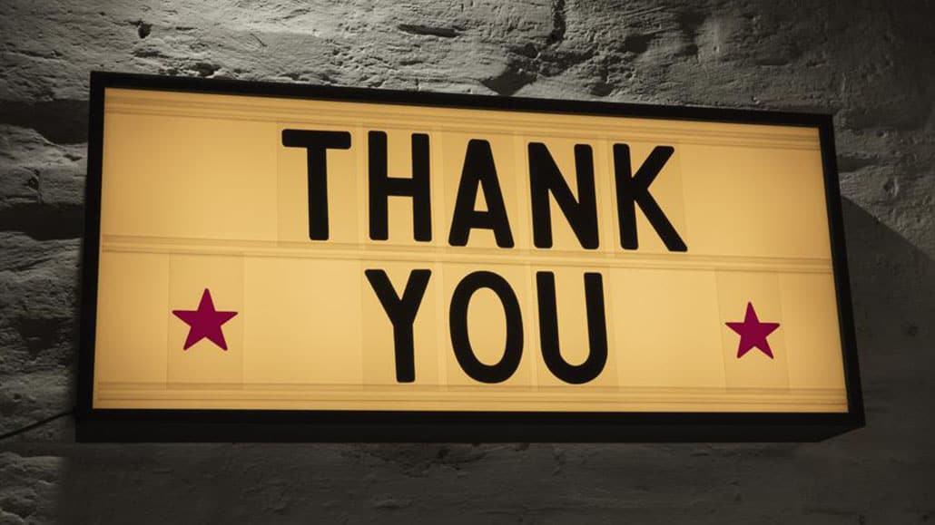 Cảm ơn khách hàng